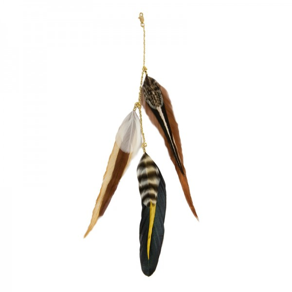 Fine Featherheads FEATHER CHARMS - Natural