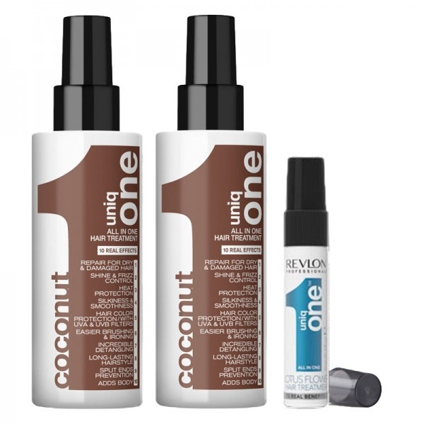 Uniq One COCONUT 2 x 150ml + Reisegröße Lotus Flower GRATIS