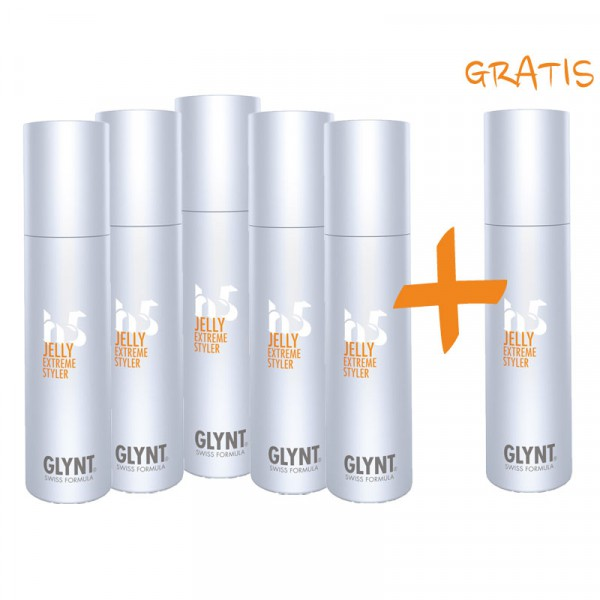 GLYNT AKTION: 5 + 1 GRATIS - JELLY Extreme Styler 100ml