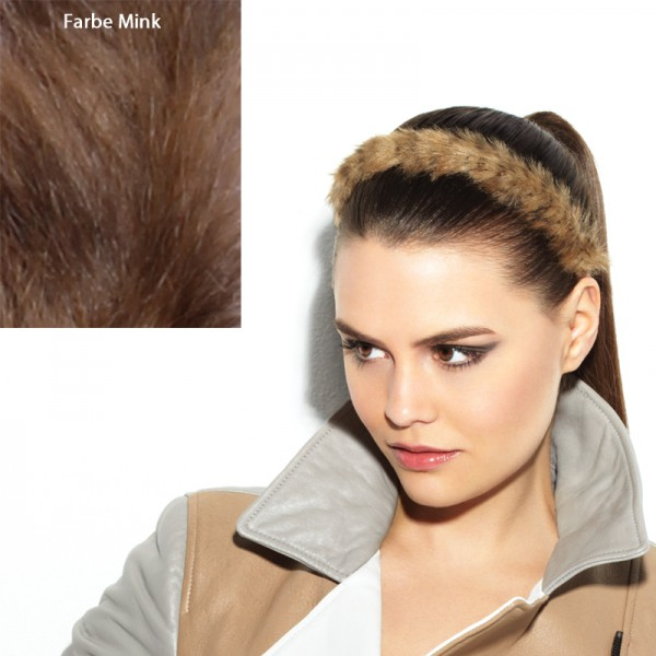 POP Faux Fur Headband Mink