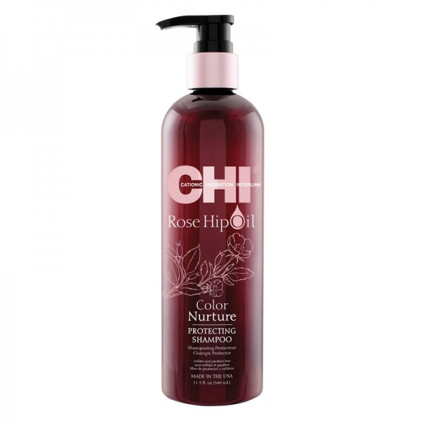CHI Rose Hip Oil Color Nurture Protecting Shampoo 340ml