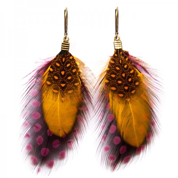 Fine Featherheads Feather Earrings - Berlin