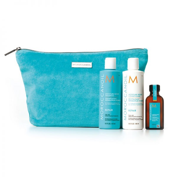 MOROCCANOIL Promo Vlies Clutch Moisture Repair - Set 4-teilig
